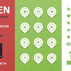 City Guide Iconset - Green