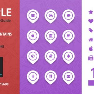 City Guide Iconset - Purple