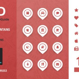 City Guide Iconset - Red