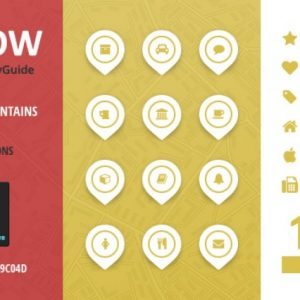 City Guide Iconset - Yellow