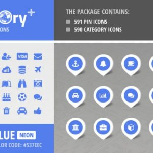 Directory+ Iconset - Blue - Neon