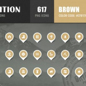 Expedition Iconset - Brown