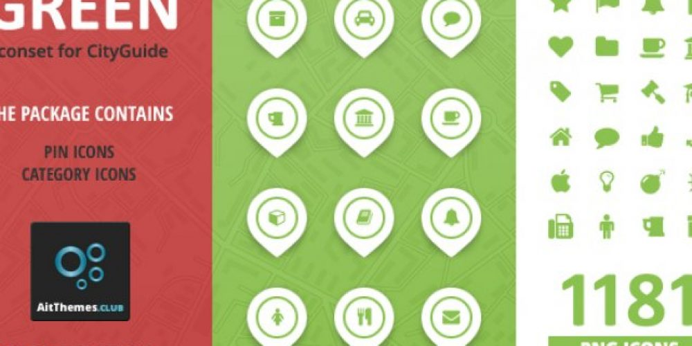 City Guide Iconset – Green