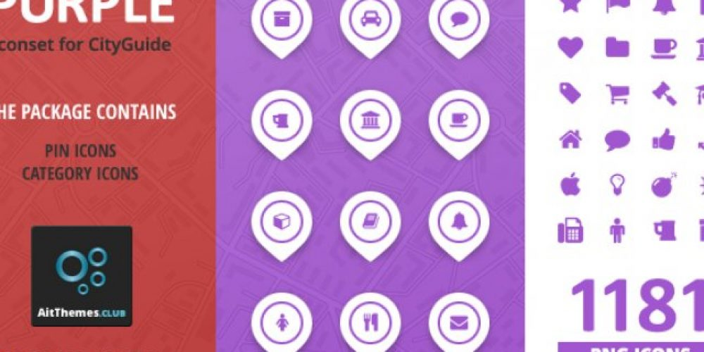 City Guide Iconset – Purple