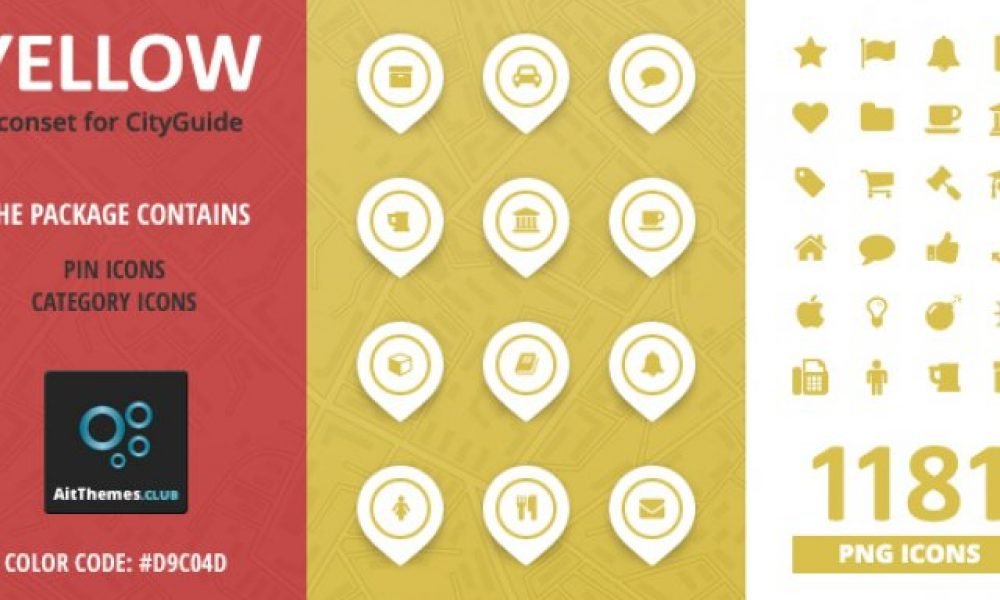 City Guide Iconset – Yellow