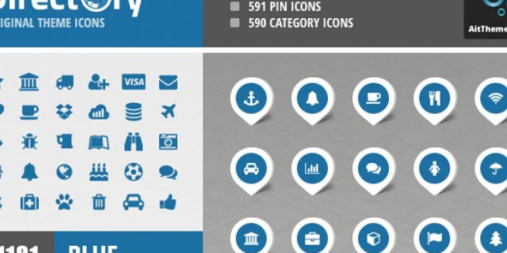 Directory+ Iconset – Blue
