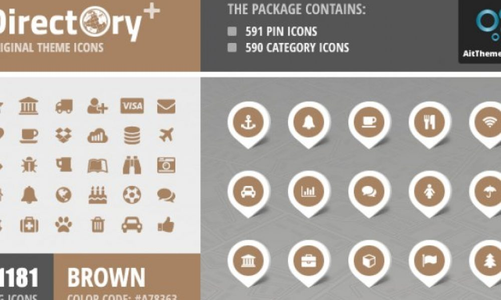 Directory+ Iconset – Brown