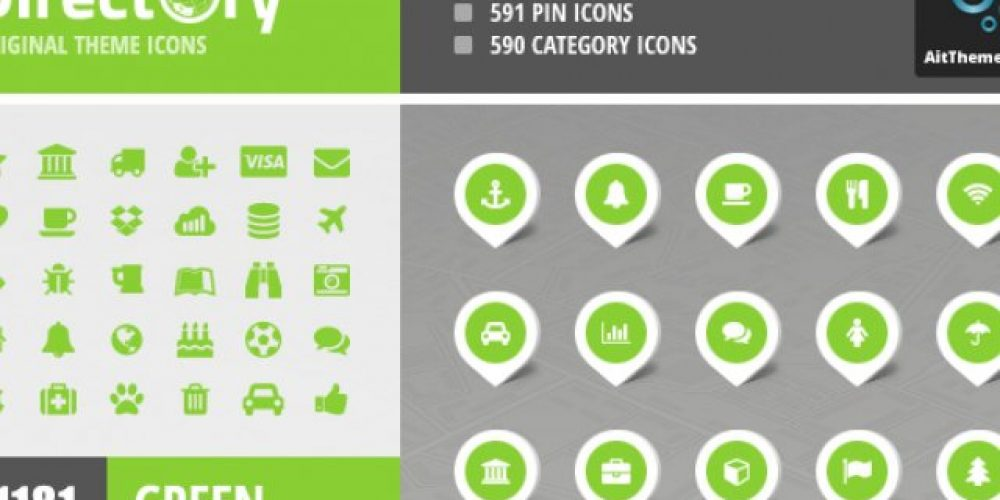 Event Guide Map Icons – Green