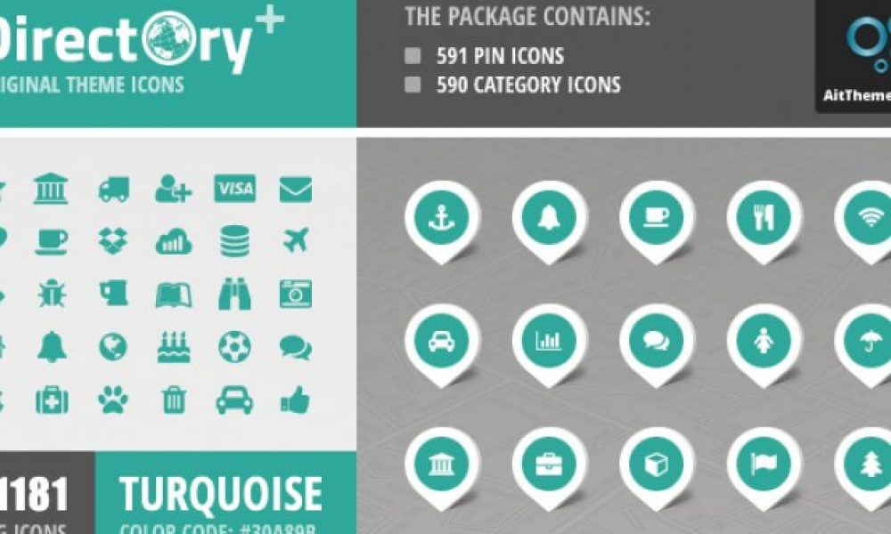 Directory+ Iconset – Turquose