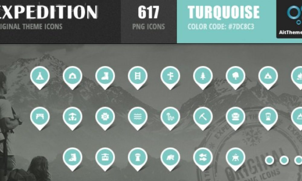 Expedition Iconset – Turquoise