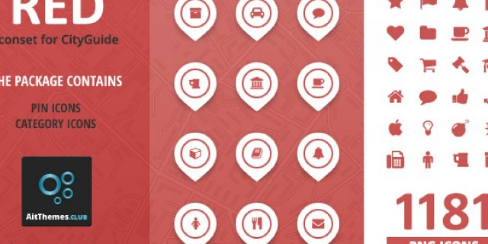 City Guide Iconset – Red