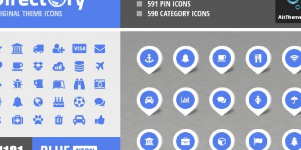Directory+ Iconset – Blue – Neon