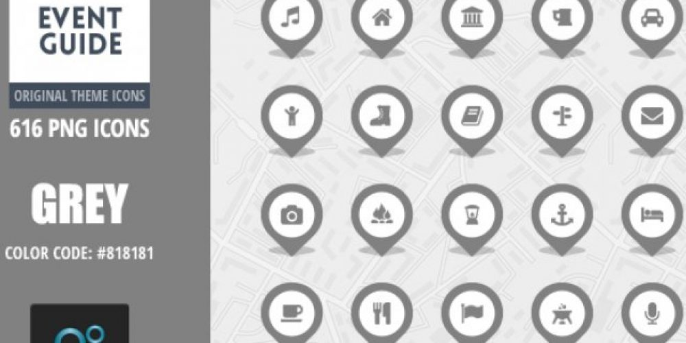 Event Guide Map Icons – Grey