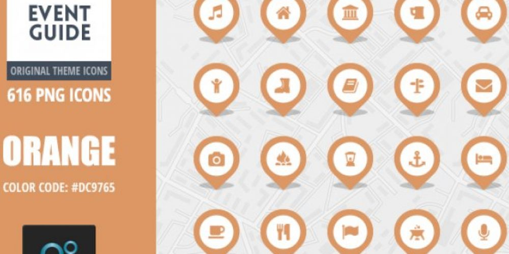 Event Guide Map Icons – Orange