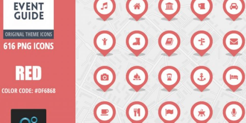 Event Guide Map Icons – Red