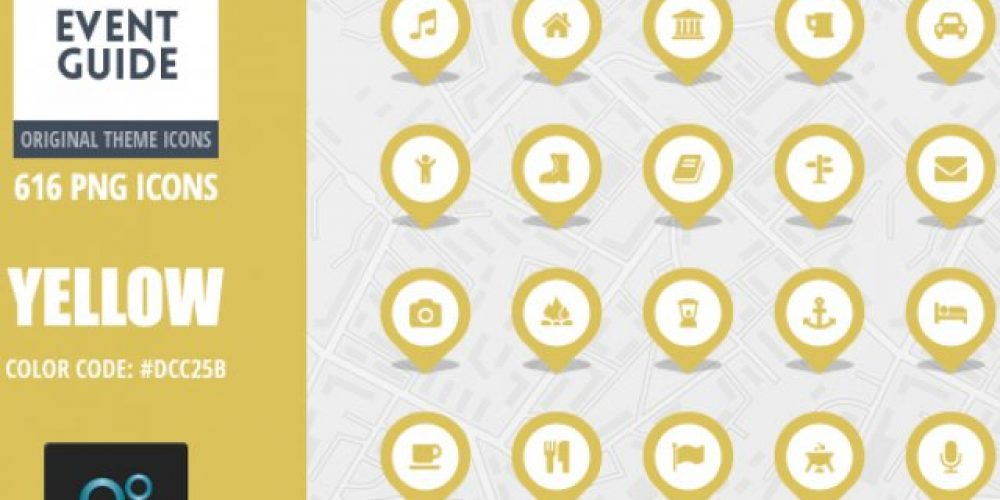 Event Guide Map Icons – Yellow