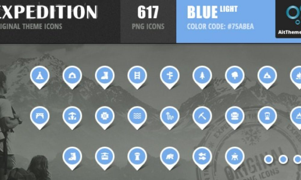 Expedition Iconset – Blue Light