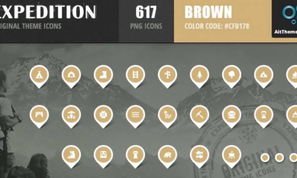 Expedition Iconset – Brown
