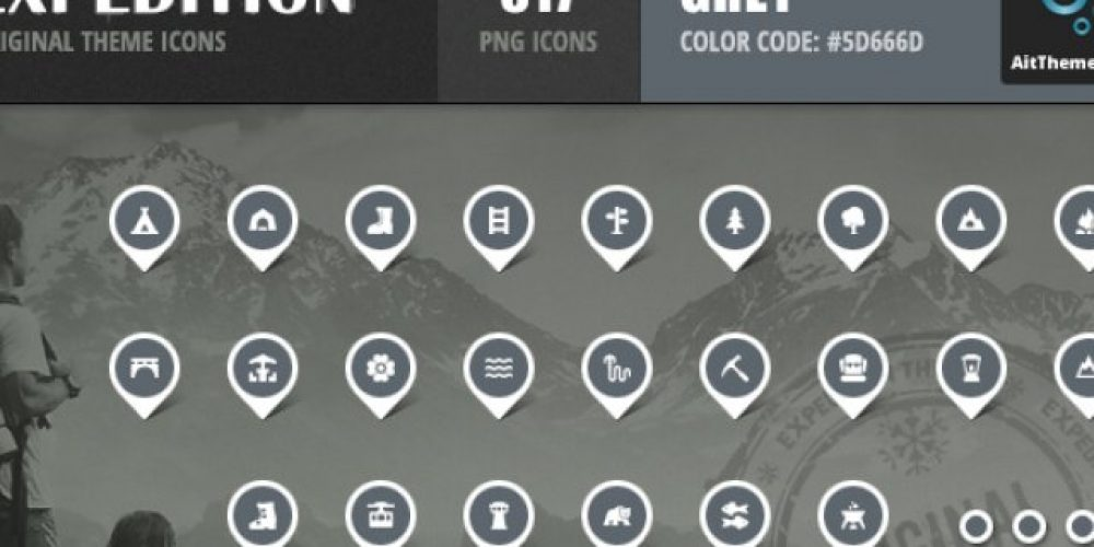 Expedition Iconset – Grey